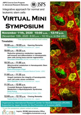 [Nov.11] JSPS Core-to-Core Program Virtual Mini Symposium