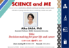"""[Apr.9] IRCMS lecture series """"SCIENCE and ME"""": 4th Talk"""
