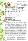 """[April 1] The 13th IRCMS Seminar, """"Immunogenetic variation that impacts human health and disease: a tricky balancing act"""""""