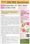 [Sep.27] 72nd IRCMS seminar